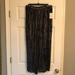 Free People Black Sequin Pants